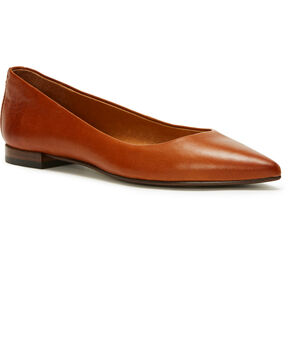 Frye Women's Brown Sienna Ballet Flats - Pointed Toe, Lt Brown, hi-res