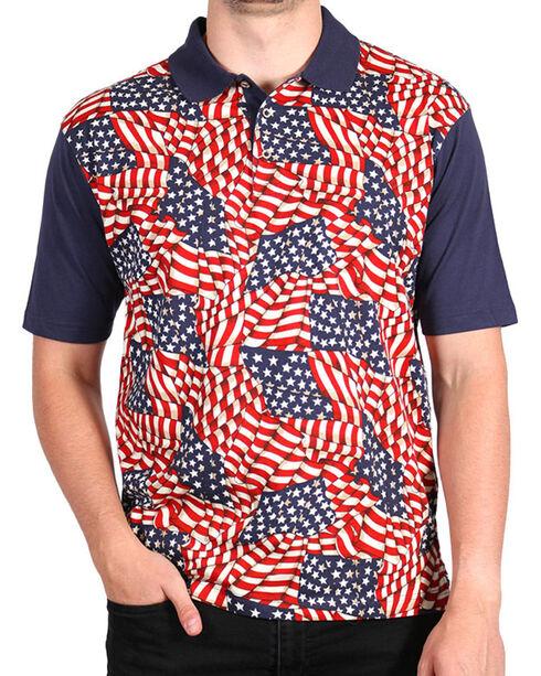 Cody James Men's Americana Polo, Navy, hi-res