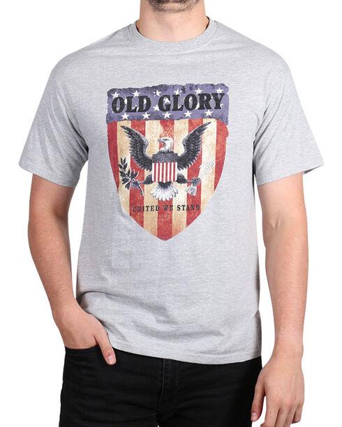 Fencepost Men's Old Glory T-Shirt, Heather Grey, hi-res