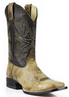 "Stetson Men's Elija 11"" Boots - Square Toe, Brown, hi-res"