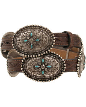 Ariat Oval Concho Belt, Brown, hi-res