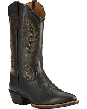 Ariat Limousine Black Drifter Cowboy Boots - Round Toe , Black, hi-res
