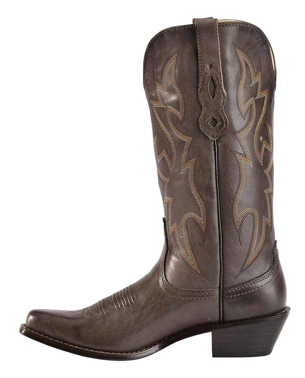 Nocona Deertan Cowgirl Boots - Snip Toe, Mocha, hi-res