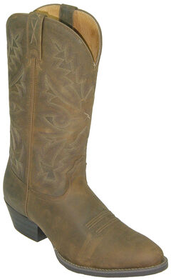 Twisted X Western Distressed Brown Cowboy Boots - Round Toe, , hi-res
