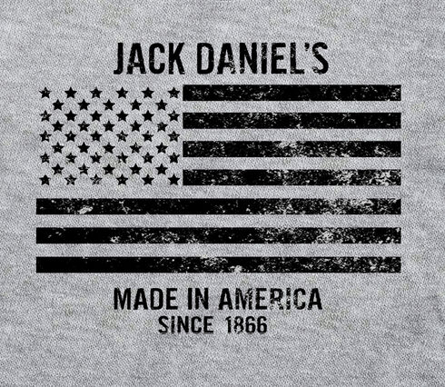 Jack Daniel's Men's Stars and Stripes Tee , Grey, hi-res