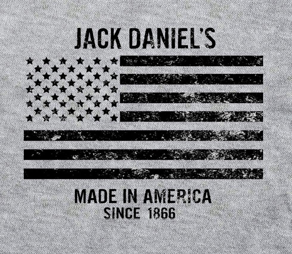 Jack Daniel's Men's Stars and Stripes Tee , Grey, hi-res