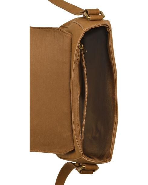 Shyanne Women's Luna Tassel Saddle Bag, Brown, hi-res