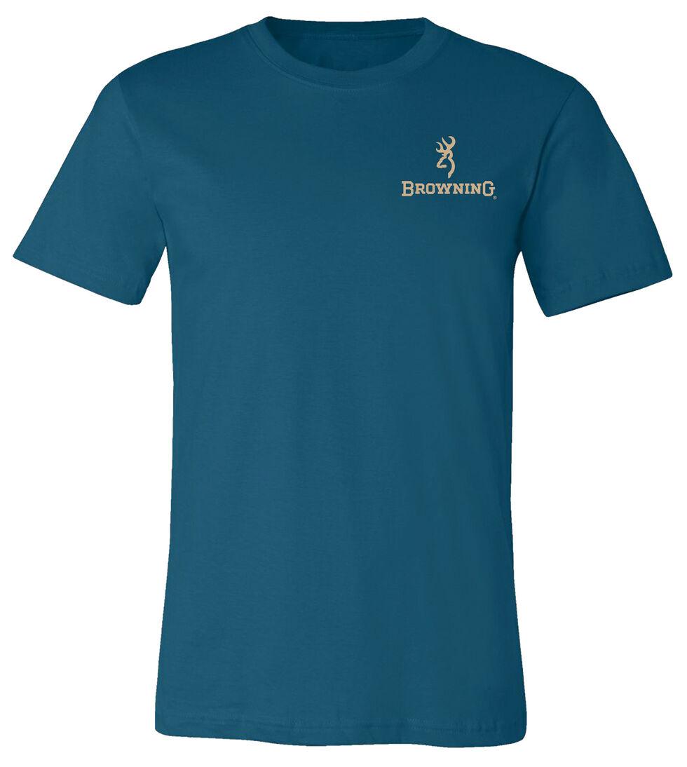 Browning Men's Pheasant Buckmark Teal Short Sleeve Tee, Teal, hi-res