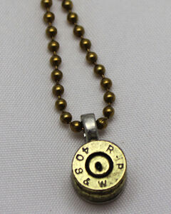 SouthLife Supply Dolly Bullet Pendant in Antique Gold, Gold, hi-res