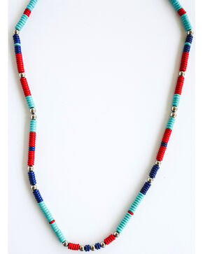 West & Co. Women's Single Strand Beaded Necklace, Multi, hi-res