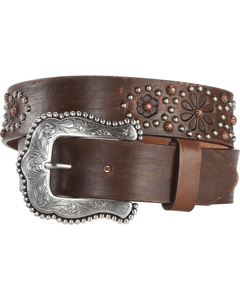 Tony Lama Women's Brown Nashville Nights Belt , Brown, hi-res