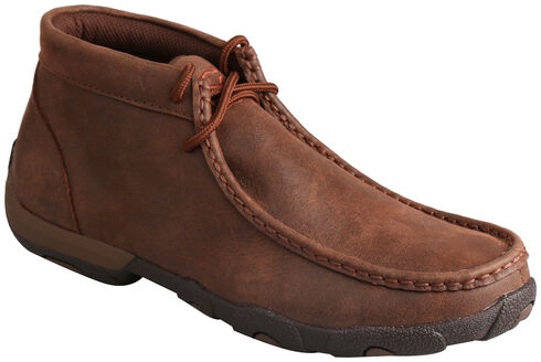 Twisted X Women's Brown Lace-Up Driving Mocs, , hi-res