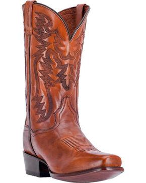Dan Post Men's Centennial Cognac Western Boots - Square Toe, Cognac, hi-res