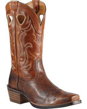 Ariat Rawhide Cowboy Boots - Square Toe, Chestnut, hi-res