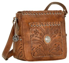 American West Harvest Moon All Access Crossbody Bag, Brown, hi-res