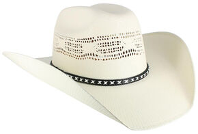Cody James Men's Bangora Straw Cowboy Hat, Natural, hi-res