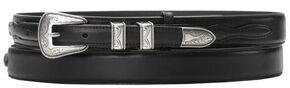 Nocona Leather Billet Overlay Ranger Belt, Black, hi-res