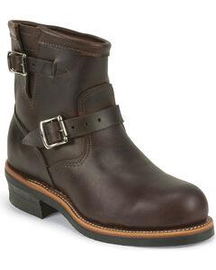 """Chippewa Men's Cognac 7"""" Engineer Boots - Steel Toe, , hi-res"""