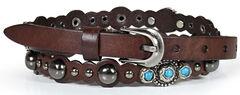 Shyanne Women's Turquoise Studded Belt, , hi-res