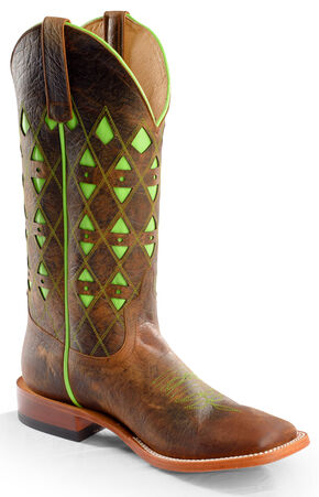 Horse Power Men's Toast Bison Western Boots - Square Toe, Toast, hi-res