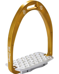 Tech Stirrups Gold Iris Cross Country Irons , , hi-res