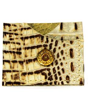 SouthLife Supply Men's Jefferson Croc Leather Card Holder, Cream, hi-res