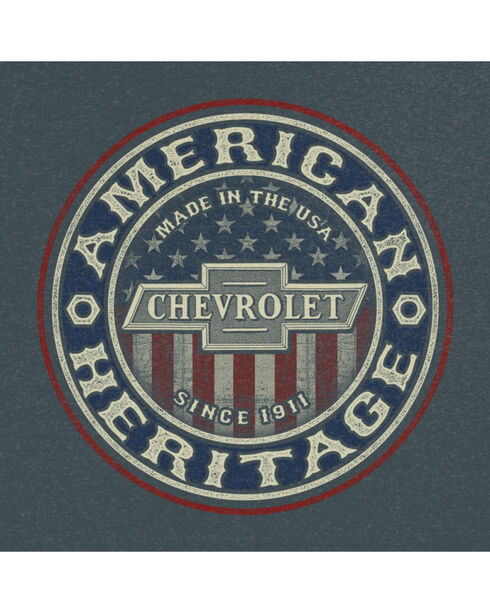 Buck Wear Men's Heather Grey Chevy American Heritage Tee , Heather Grey, hi-res