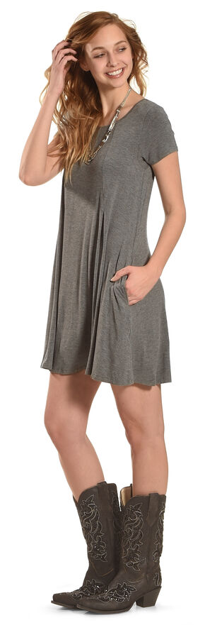 Z Supply Women's Charcoal Grey Swing T-Shirt Dress , Charcoal Grey, hi-res