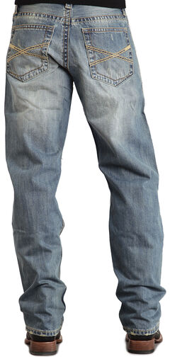"Stetson 1520 Fit Classic ""X"" Stitched Jeans, , hi-res"