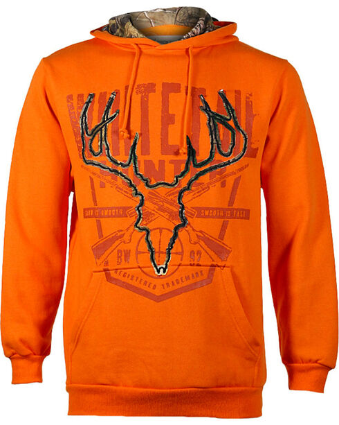 Buckwear Men's Embroidered Hunter Hoodie, Orange, hi-res
