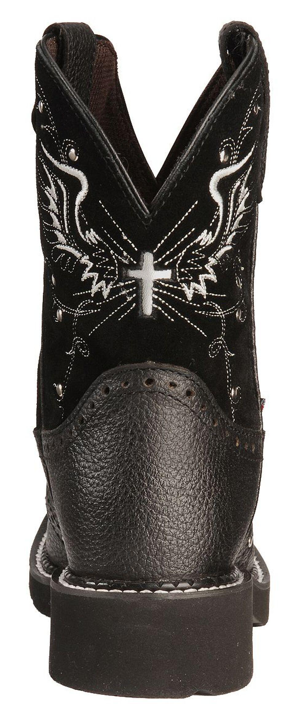 Justin Gypsy Women's Mandra Black Cowgirl Boots - Square Toe, Black, hi-res