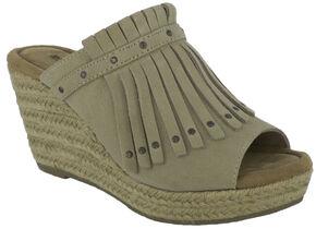 Minnetonka Women's Quinn Wedge Sandals, Sand, hi-res
