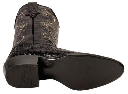Ferrini Caiman Croc Print Cowboy Boots - Round Toe, Black, hi-res