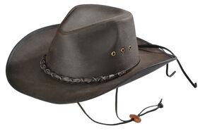 Outback Trading Bootlegger Oilskin Hat, Brown, hi-res