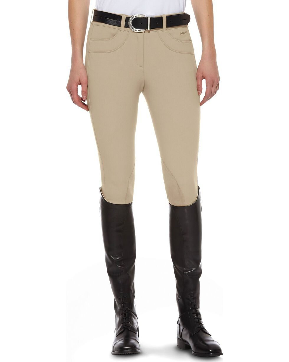 Ariat Olympia Low Rise Riding Breeches, Beige, hi-res