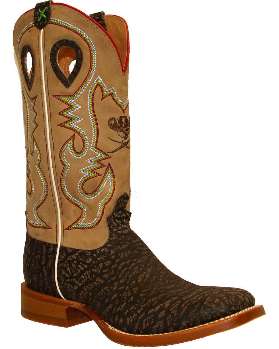 Twisted X Men's Ruff Stock Cowboy Boots - Square Toe , Taupe, hi-res