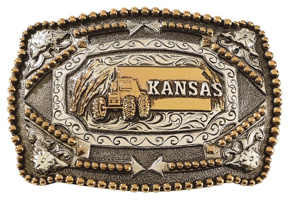 Cody James Kansas Belt Buckle, Multi, hi-res