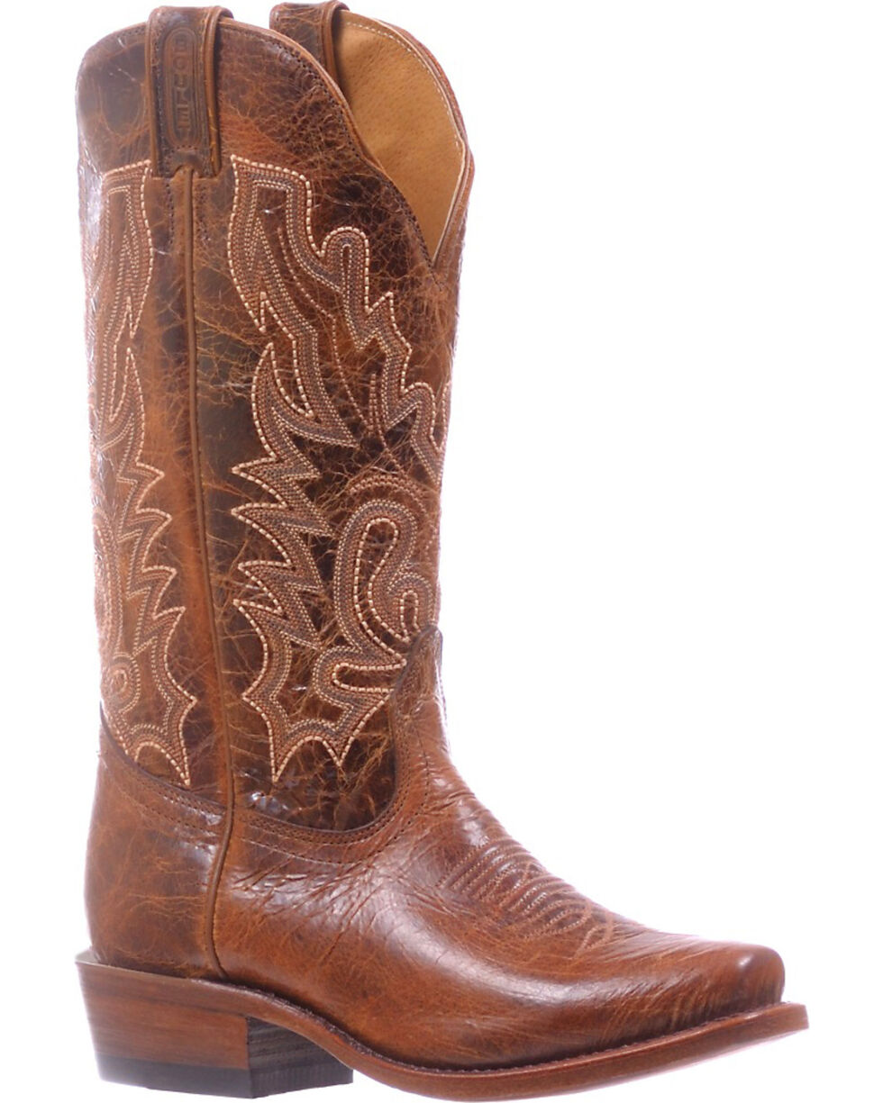 Boulet Brown Cutter Cowgirl Boots - Snip Toe , Light Brown, hi-res