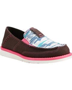 Ariat Girls' Sky Camo Print Cruiser Shoes - Moc Toe, Camouflage, hi-res