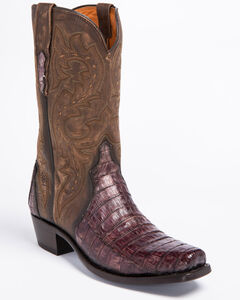 Lucchese Maple Dwight Caiman Cowboy Boots - Square Toe  , , hi-res