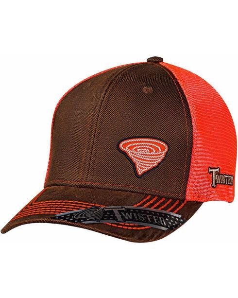 Twister Men's Brown Twister Logo Baseball Cap, Brown, hi-res