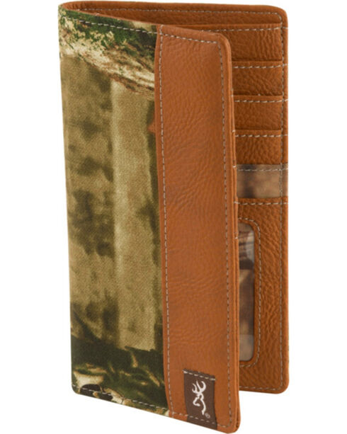 Browning Men's Mossy Oak Camo Executive Wallet, Camouflage, hi-res