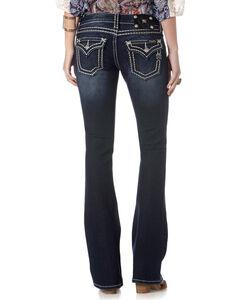 Miss Me Women's Saddle Stitch Jeans - Boot Cut, Dark Blue, hi-res