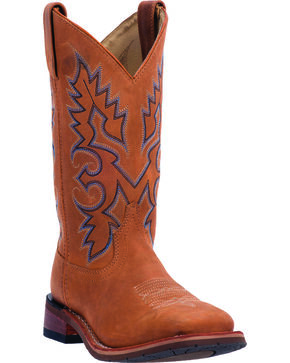 Dan Post Mickie Cowgirl Boots - Square Toe , Tan, hi-res