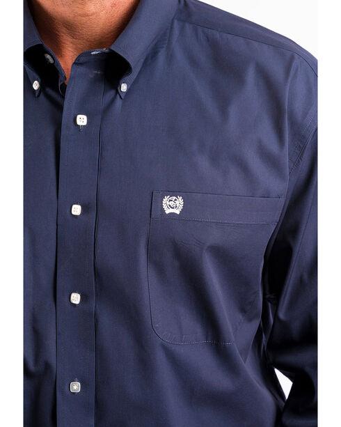 Cinch Men's Navy Western Button-Down Shirt - Big , Navy, hi-res