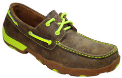 Twisted X Men's Leather Driving Mocs, , hi-res