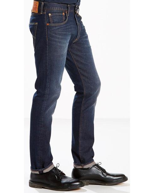 Levi's Men's Blue 501 Original Fit Anchor Stretch Jeans - Straight Leg, Blue, hi-res