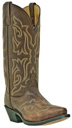 Laredo Stitched Vamp and Shaft Cowgirl Boots - Snip Toe, , hi-res
