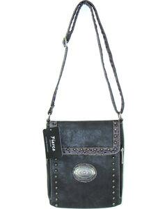 Savana Women's Fierce Conceal Carry Croco Trim Purse , Black, hi-res