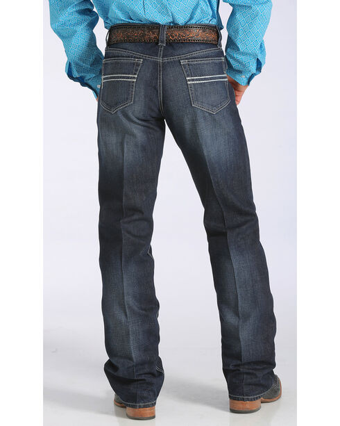 Cinch Men's Carter 2.2 Mid-Rise Relaxed Bootcut Jeans - Big & Tall, Dark Stone, hi-res